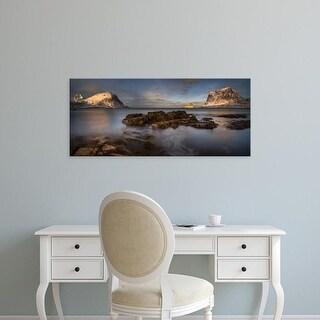 Easy Art Prints Panoramic Images's 'Vikbukta near Haukland Beach, Lofoten, Nordland, Norway' Premium Canvas Art