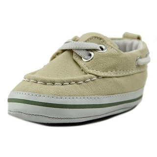 Luvable Friends Newborn Slip Infant Round Toe Canvas Loafer