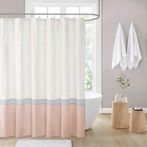 Jojo Cotton Jacquard Shower Curtain by Urban Habitat