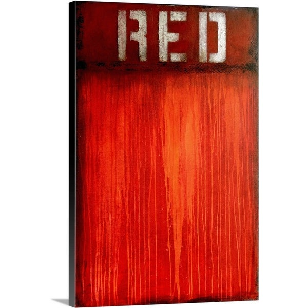 """""""Red"""" Canvas Wall Art"""