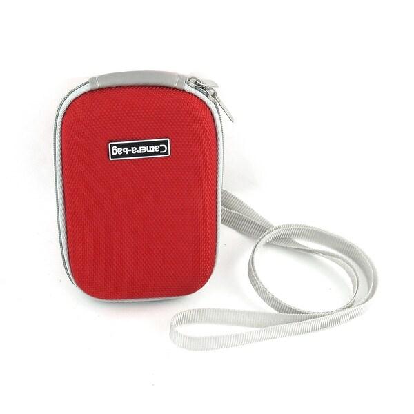 Handy Red Light Gray EVA Nylon Zip Up Digital Camera Bag Case