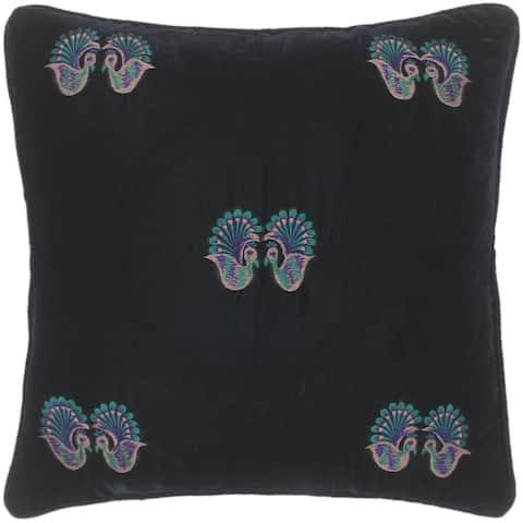 Bohemian Ha Hand Embroidered Italian Velvet Pillow