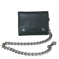 Levis Men's Leather Trifold Chain Wallet - One size