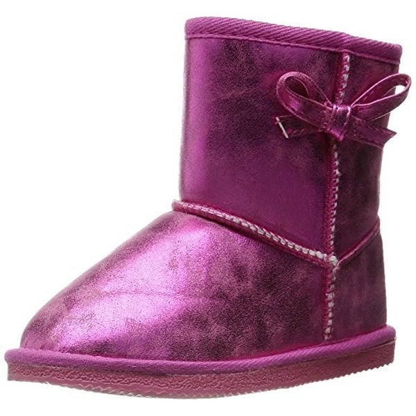 Western Chief Elsa Casual Boots Faux Fur Lined Metallic
