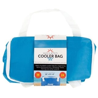 """Link to Pack of 4 Blue and White Insulated Cooler Tote Bags 16"""" Similar Items in Picnic"""