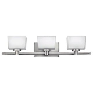 """Hinkley Lighting 5023-LED Taylor 3 Light 27-1/2"""" Wide LED Bathroom Vanity Light with Frosted Glass"""