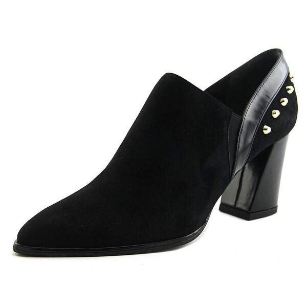 Stuart Weitzman TakTak Women Pointed Toe Suede Black Heels