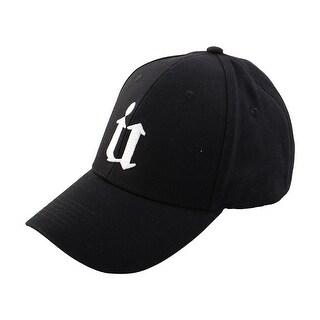 Spring Summer Cotton Blends Letter Pattern 5 Panel Adjustable Baseball Cap Hat