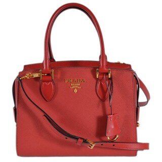 Prada 1BA164 Red Saffiano Leather Borsa A Mano Crossbody Purse Handbag