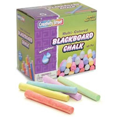 Blackboard Chalk Bucket 60/Pkg-Assorted Colors