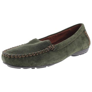 Naturalizer Womens Kellyn Suded Contrast Stitching Loafers - 7 wide (c,d,w)