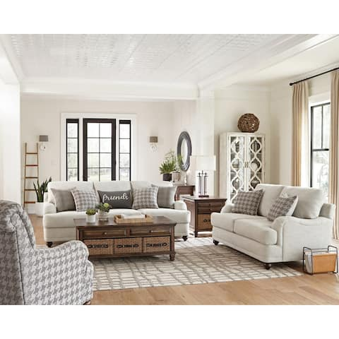 Copper Grove Muomua Light Grey Living Room Set with Cushioned Back