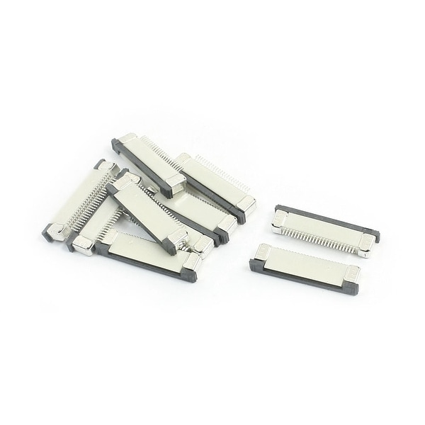 Unique Bargains 10pcs 0.5mm Pitch 24-Pin FFC FPC Flat Socket Ribbon Connector 17mm x 5mm