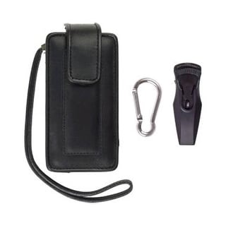 Unicel Starter Kit - Leather Case with Swivel Belt Clip/Mini USB Car Charger for
