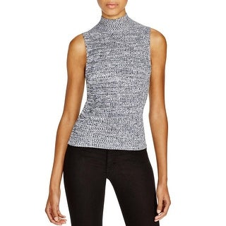 Theory Womens Turtleneck Top Marled Knit