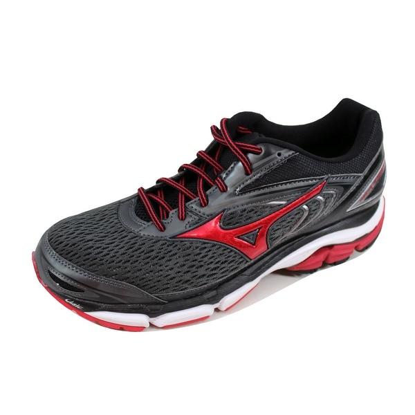 Mizuno Men's Wave Inspire 13 Grey/Black-Red J1GC174461