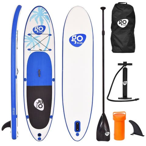 Goplus 11' Inflatable Stand Up Paddle Board SUP w/ Fin Adjustable