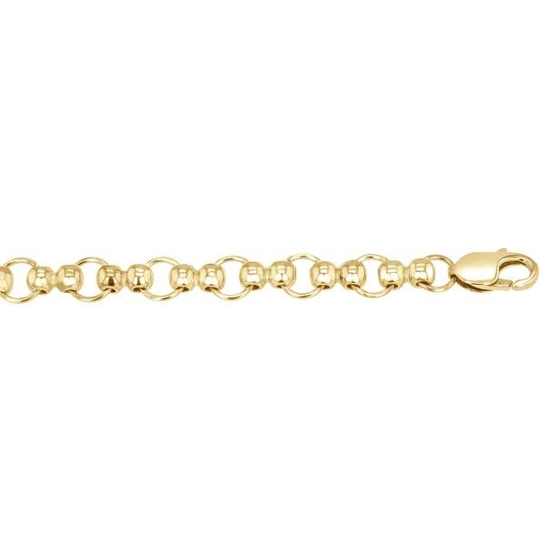 "Men's 14k Yellow Gold Fancy Link Chain, 18"""