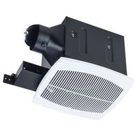 """Miseno MBF080 White 80 CFM Ceiling Mounted Ultra Quiet Energy Star Rated Exhaust Fan with 4"""" Duct Diameter (Under 0.3 Sones)"""