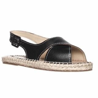 Pour La Victoire Olivia Espadrille Slingback Sandals - Black