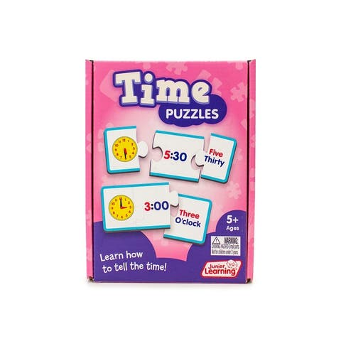 Time Puzzles Educational Learning Set - White