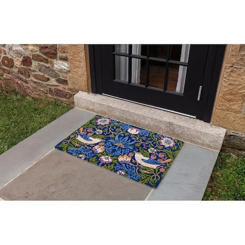 Victoria and Albert Museum Strawberry Thief Coir Doormat