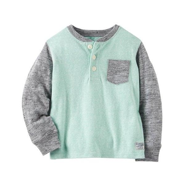 7524d52e Shop OshKosh B'gosh Big Boys' Pocket Henley, 12 Kids - Free Shipping On  Orders Over $45 - Overstock - 22123712