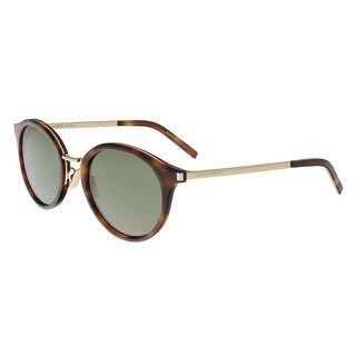 Saint Laurent SL 57-003 Havana/Gold Oval Sunglasses