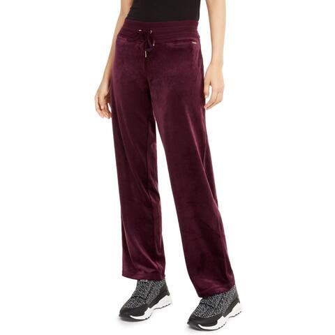 Calvin Klein Womens Sweatpants Velvet Drawstring