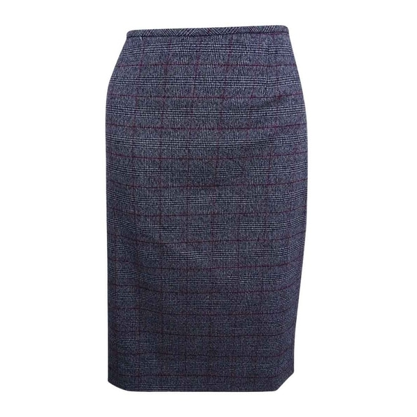 6c43f842ab77 Shop Tahari ASL Women's Plaid Straight Skirt (8, Grey/Black/Red) - Grey/ Black/Red - 8 - On Sale - Free Shipping On Orders Over $45 - Overstock -  20959927