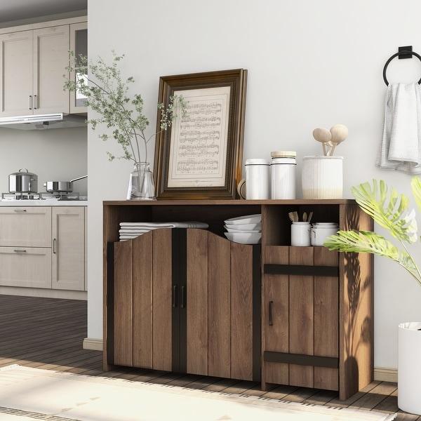 Furniture of America Horr Rustic Walnut 47-inch Buffet Server