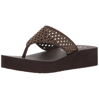 Skechers Cali Women's Vinyasa #Flow Wedge Sandal, Chocolate Cutout - chocolate cutout