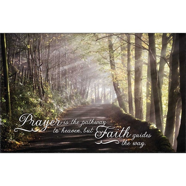 "16.8"" Green and Brown ""Prayer is the pathway to heaven, but faith guides the way"" Wall Plaque - N/A"