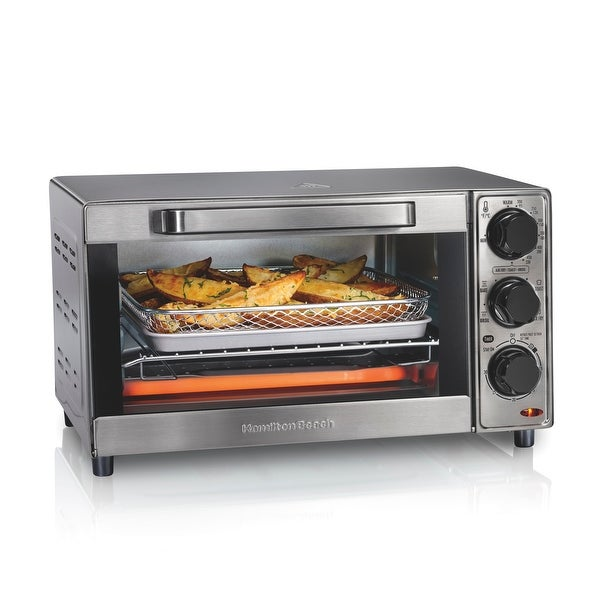 Hamilton Beach Sure-Crisp 4 Slice Air Fryer Toaster Oven,. Opens flyout.