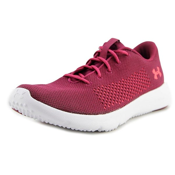 Under Armour Rapid Women Round Toe Synthetic Burgundy Running Shoe