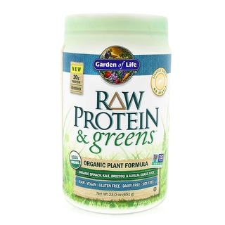 Garden of Life Raw Protein and Greens Lightly Sweet ( No Stevia ) 23.2 oz. (656 Grams)
