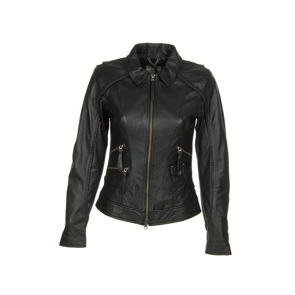 Shop Harley Davidson 98064 13vw Womens Heritage Black Leather Jacket