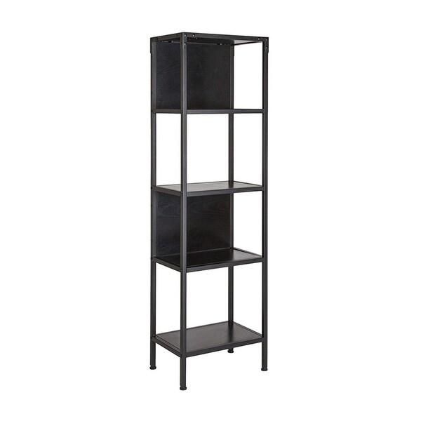 Offex Industrial Style Bookshelf Unit in Dark Ash Laminate Finish