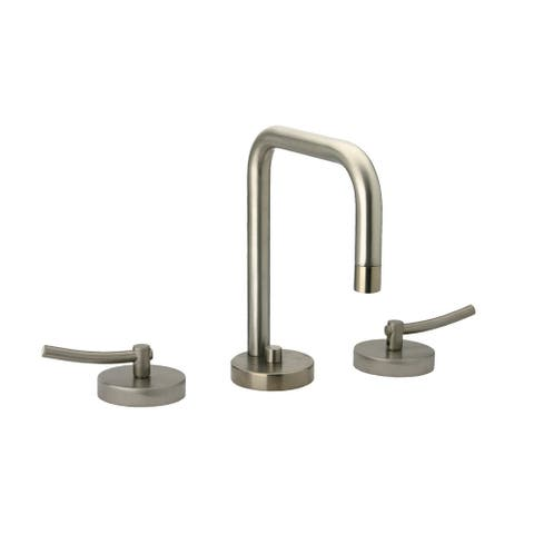 Metrohaus Lavatory Widespread Faucet with Swivel Spout, Pop Up Waste and Lever Handles - Polished Chrome