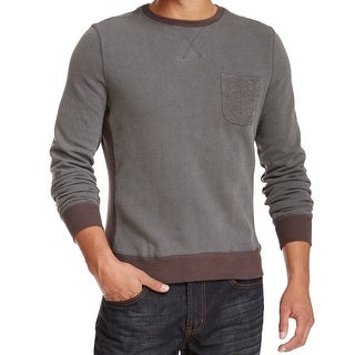 W.R.K. NEW Gray Mens Size Large L Solid Crewneck Pocket Sweater