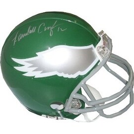 Randall Cunningham signed Philadelphia Eagles TB Riddell Mini Helmet gray mask right side sig