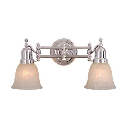 Vaxcel Lighting VL28962 Swing Arm 2 Light Bathroom Vanity Light   11.5  Inches Wide