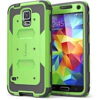 I-Blason Samsung Galaxy S5 Case - Armorbox Dual Layer Hybrid Full-body Protective Holster Cover - Green