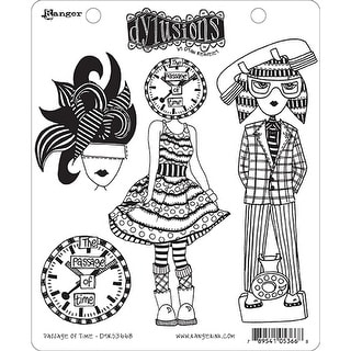 "Dyan Reaveley's Dylusions Cling Stamp Collections 8.5""X7""-Passage Of Time"