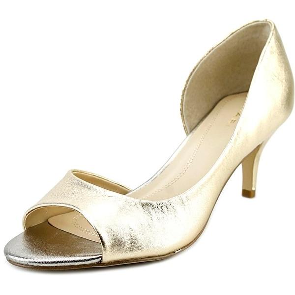 Tahari Race Women  Open-Toe Synthetic Gold Heels