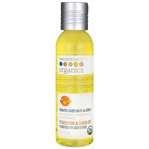 Nature's Baby Organics Organic Baby Oil - Mandarin Coconut - USDA 4oz.