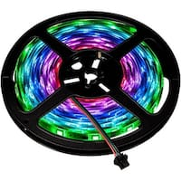 RGB Color Changing Chasing LED Strip Light - 12 Volt - High Output (SMD 5050) - Outdoor Use (IP67) - 16.4 Feet
