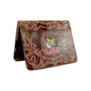 Gameday iPad Case Louisiana Distressed Leather Brass