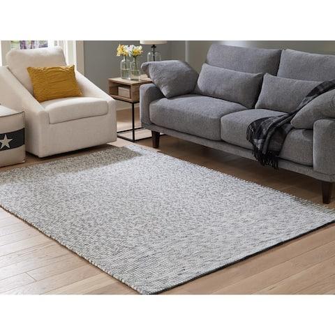 Jonalyn Grey Wool Handwoven Rug