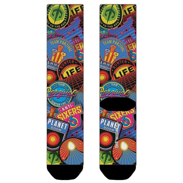 Ready Player One AOP Sublimated Crew Socks